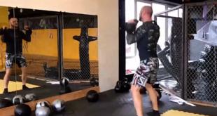 Миша Маваши тренируется